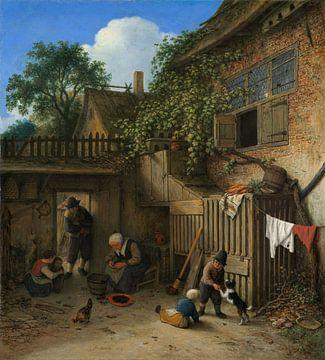 The Cottage Dooryard, Adriaen van Ostade