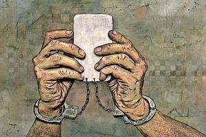 Internet Online verslaving op mobiele telefoons van Stefan teddynash