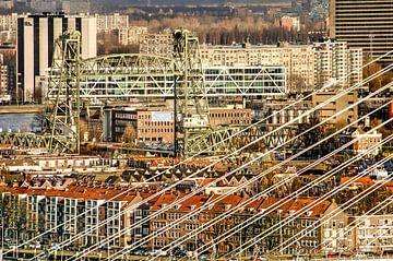 Rotterdam, de Hef en andere bruggen van