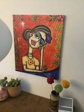 Klantfoto: Frida Kahlo in Reflectie van Frida Kahlo