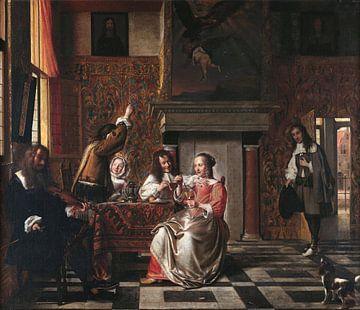 Fröhliche Gesellschaft, Pieter de Hooch