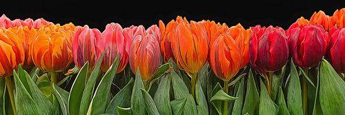 Schilderij van tulpen  digital Art van