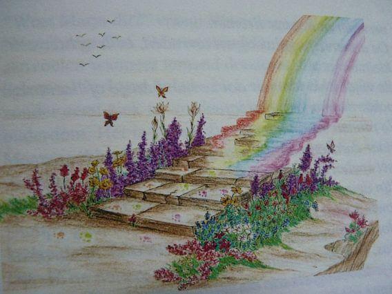 De regenboogbrug  van Jose Beumers