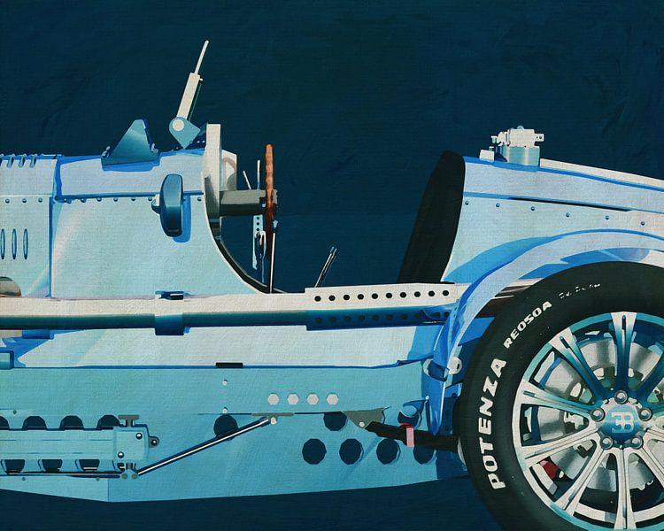 Bugatti Phoenix Concept Roadster Schilderij van Jan Keteleer
