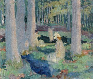 MAURICE DENIS, Im Wald (Baden / Schwimmen bei Mare aux Canes), 1898 von Atelier Liesjes