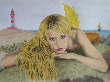 sweet mermaid von Edith Boogaard van den