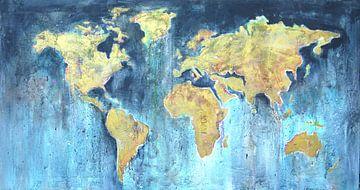 Peinture de carte du monde sur Atelier Paint-Ing