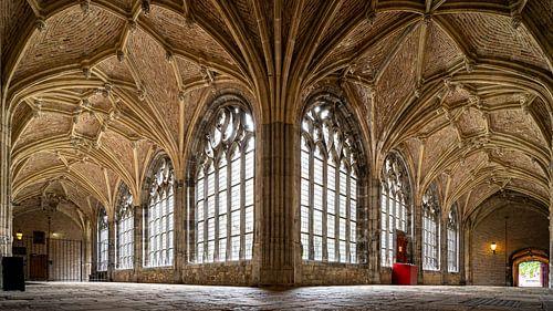Gotische kloostergang, abdij Middelburg