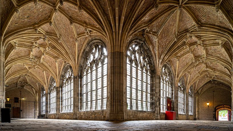 Gotische kloostergang, abdij Middelburg van Fotografiecor .nl