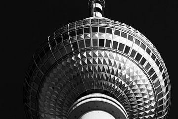 La sphère de la tour de télévision de Berlin sur Frank Herrmann