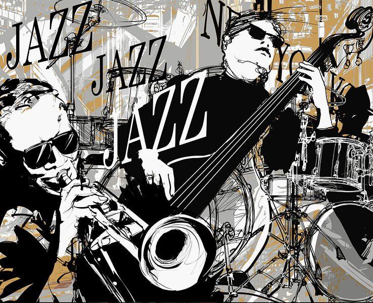 New York Jazz Music van STUDIO68 wanddecoratie