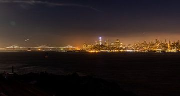 San Francisco in de nacht van Martijn Bravenboer