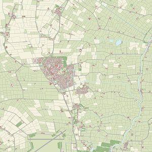 Kaart vanLeeuwarderadeel