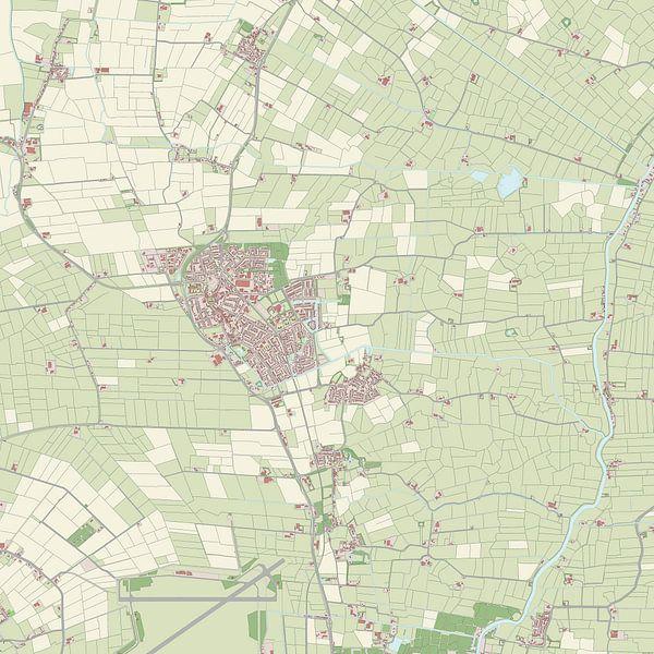 Kaart vanLeeuwarderadeel van Rebel Ontwerp