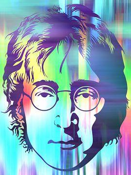 John Lennon Abstraktes Porträt von Art By Dominic