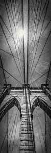 NEW YORK CITY, Brooklyn Bridge is in de Detail   pan verticaal