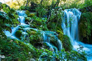 Watervallen in Nationaal Park Plitvička Jezera, Kroatie