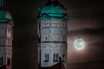 Dom van Naumburg met volle maan van Martin Wasilewski