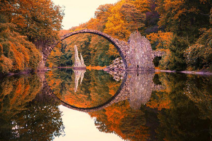 Rakotz Brug in Duitsland. van Roman Robroek