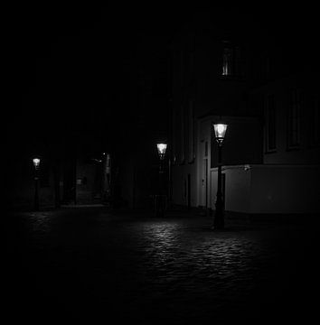 Utrecht in de nacht van Bart van Lier