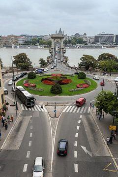 Budapest Skyline mit Donau und Kettenbrücke von Frank Herrmann