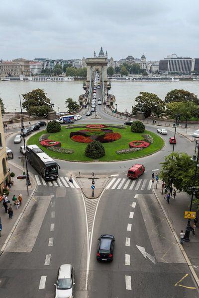 Budapest avec le Danube et le pont de chaîne sur Frank Herrmann