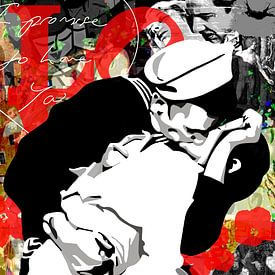 """Famous Love Couples - """"V-J Day in Times Square"""" van Jole Art (Annejole Jacobs - de Jongh)"""