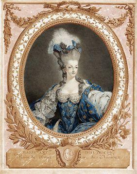 Modekönigin, Marie Antoinette, Jean François de Janinet, 1777 von Atelier Liesjes