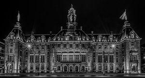 Het Stadhuis van Rotterdam in Zwart/Wit