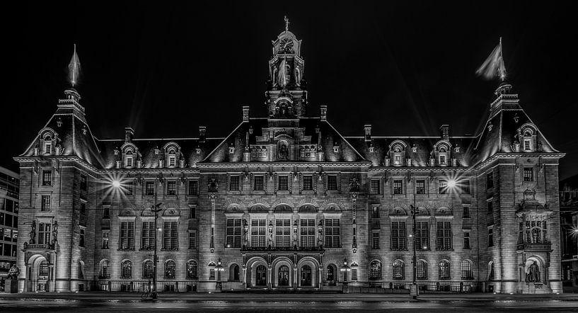 Het Stadhuis van Rotterdam in Zwart/Wit van MS Fotografie   Marc van der Stelt