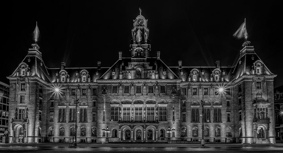 Het Stadhuis van Rotterdam in Zwart/Wit van MS Fotografie