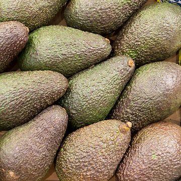 avocado, fruit, markt, groen van Leo van Maanen
