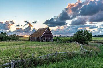 Texel zonsondergang Kippenboet kippenschuur Den Hoorn van Texel360Fotografie Richard Heerschap