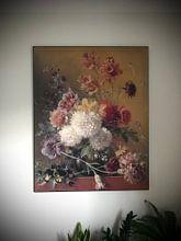 Kundenfoto: Stillleben mit Blumen in einem Vase, als akustikbild