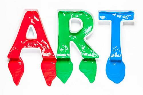ART - letters met verf van