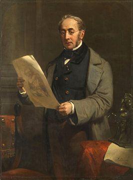 Portrait of Jacob de Vos Jacobszoon, Nicolaas Pieneman sur