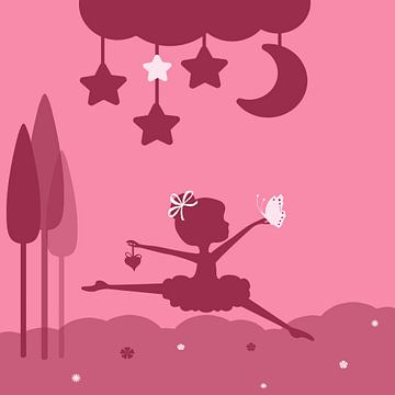 weinig danser, roze van Marion Tenbergen