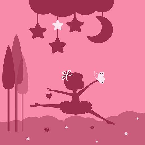 weinig danser, roze
