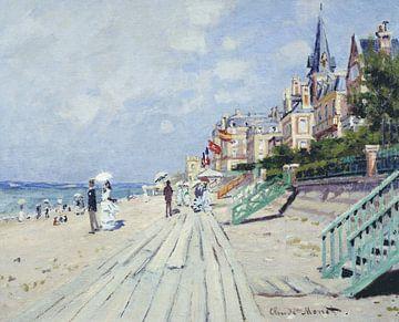 The Boardwalk at Trouville, Claude Monet sur