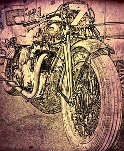Retro motorfiets van Jan Radstake