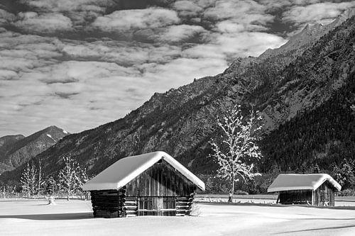 Winterlandschaft bei Farchant von