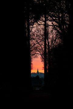 Zonsondergang in 's-Heerenberg met zicht op Hoch-Elten van Marco Scheurink