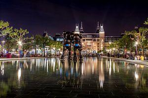 Museumplein bij nacht