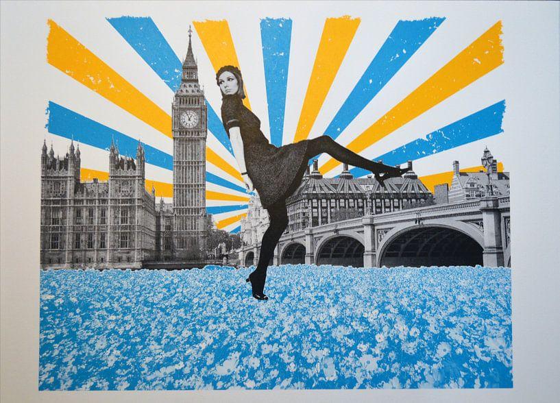 London Stride, 2018, Screenprinting van Anne Storno