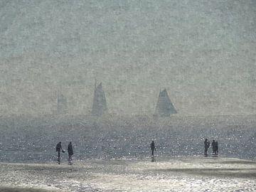 Wandeling op het strand van Terschelling van Floris De Mol