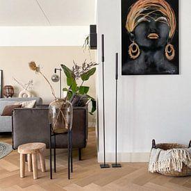 Kundenfoto: Afrikanische Frau mit Gold. von Ineke de Rijk, auf alu-dibond