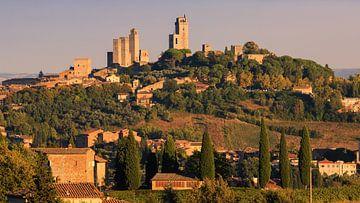 San Gimignano, Toscane, Italië van Henk Meijer Photography