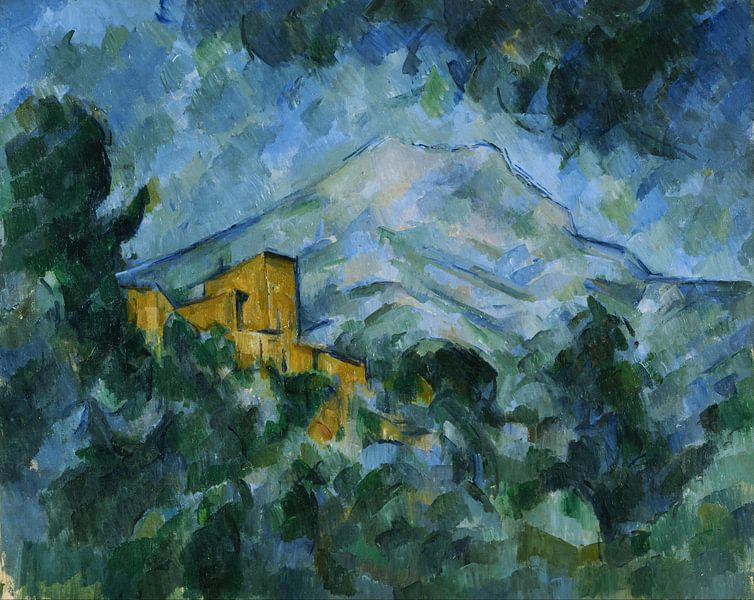 Paul Cezanne - Mont Sainte-Victoire en Château Noir van 1000 Schilderijen