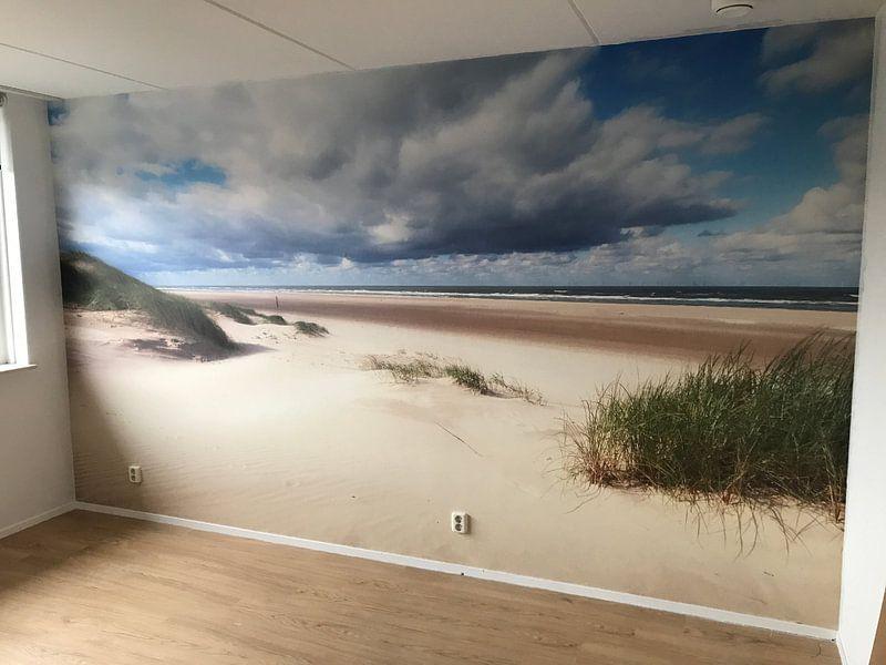 Klantfoto: Ruimtelijk beeld op strand van Fotografie Egmond, op naadloos behang