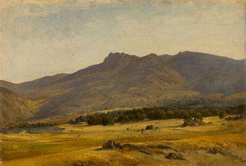 Carlos de Haes-Valle en la sierra del Guadarrama, Berglandschaft, Antike Landschaft